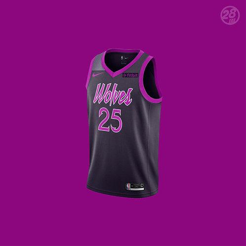 Timberwolves Derrick Rose Nike 2018-19 City Edition Swingman Jersey