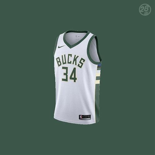 Bucks Giannis Antetokounmpo Nike 2018-19 Association Edition Swingman Jersey