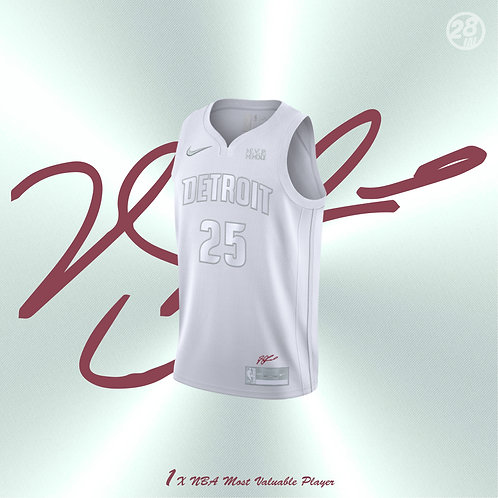 Pistons Derrick Rose Nike 2019-20 White MVP Swingman Jersey