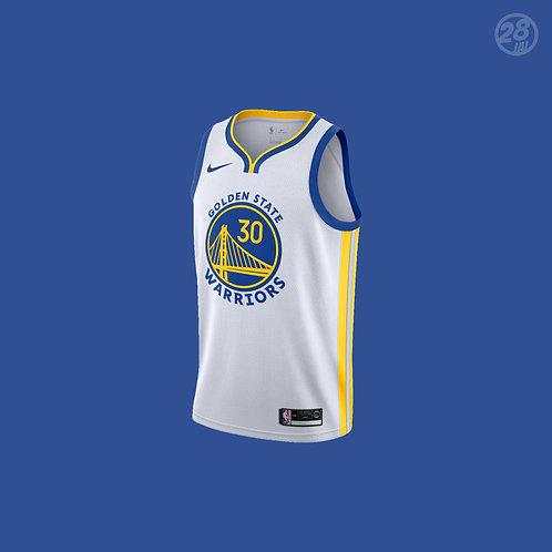 Warriors Stephen Curry Nike 2019-20 Association Edition Swingman Jersey