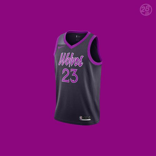 Timberwolves Jimmy Bulter Nike 2018-19 City Edition Swingman Jersey