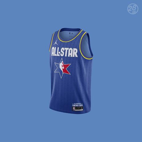 Lakers Anthony Davis Jordan 2019-20 All-Star Blue Swingman Jersey