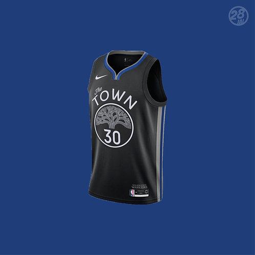 Warriors Stephen Curry Nike 2019-20 City Edition Swingman Jersey