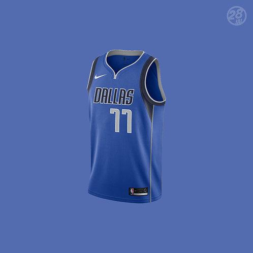 Mavericks Luka Doncic Nike 2018-19 Icon Edition Swingman Jersey