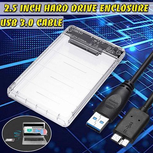 "CASE PARA HD SATA 2,5"" USB 3.0 TRANSPARENTE"