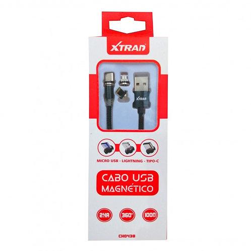 CABO USB MAGNETICO C/3 CONECTORES 3 EM 1