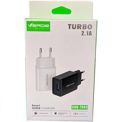 CARREGADOR TURBO USB 2.1 AMPERES