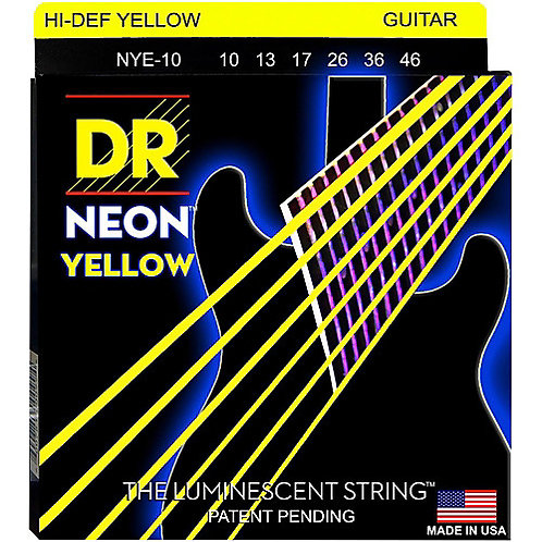 DR Strings - Neon Yellow - Electric Guitar