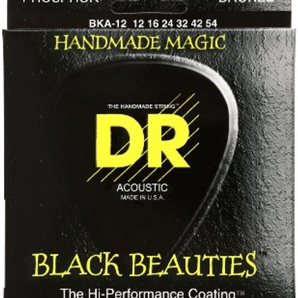 DR Strings - K3 Coating Black -Acoustic Guitar