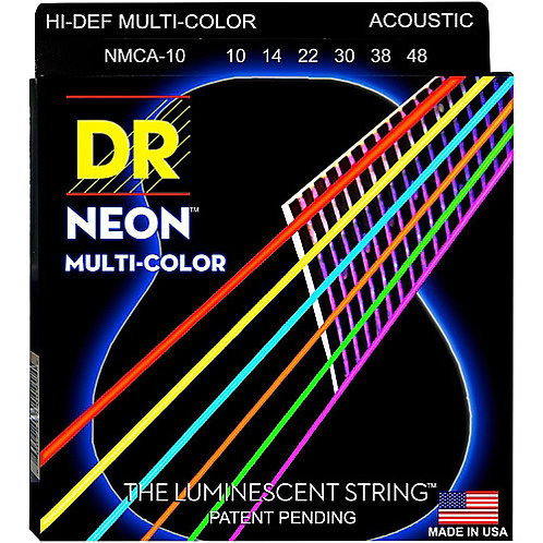 DR Strings - Multi Coloured - Acoustic
