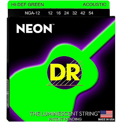 DR Strings - Neon Green - Acoustic Guitar
