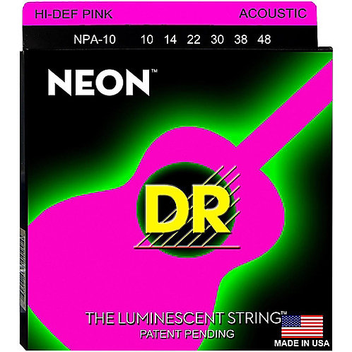DR Strings - Neon Pink - Acoustic Guitar