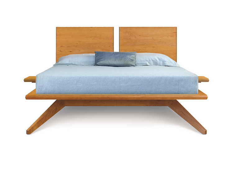 Astrid Bed with 2 Headboard Panels by Copeland Furniture