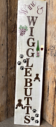 Long Wooden Sign