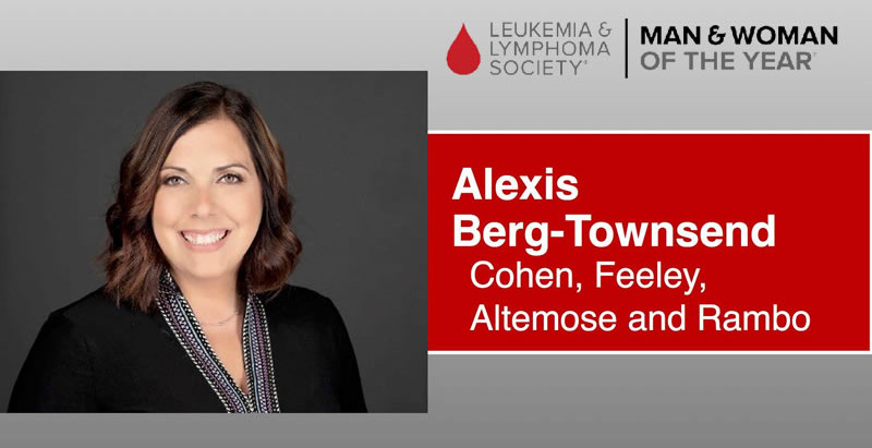 The Leukemia & Lymphoma Society Announces Alexis Berg-Townsend as Candidate for Woman Of The Year