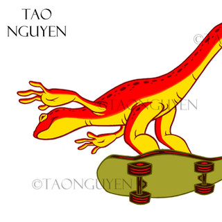 Skate Salamander (Orange Version) Artwork