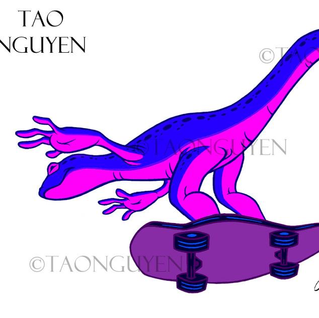Skate Salamander (Purple Version) Artwork