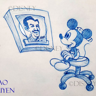 Mickey Draws Walt Tribute
