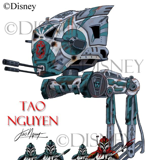 AT-ST Walker & Storm Troopers Fan Art