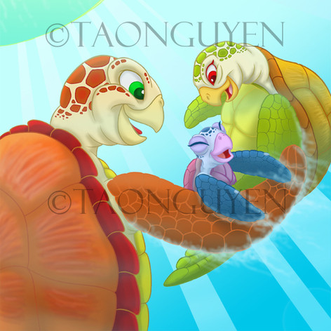 Turtle Family Artwork