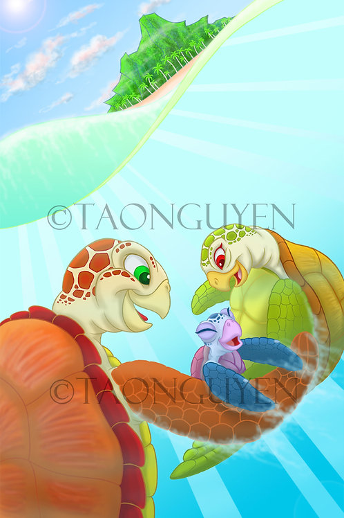 Turtle Family (11 x 17 Printed Artwork)