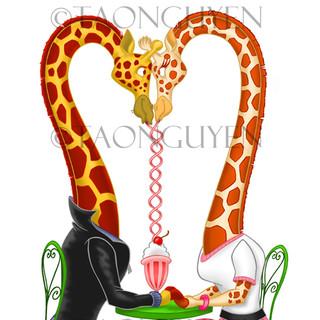 Giraffe Date Artwork