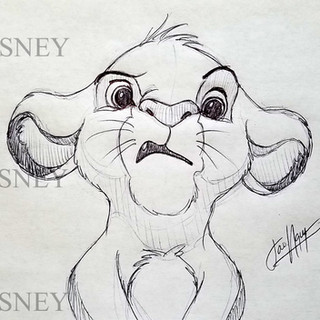 Expressive Young Simba