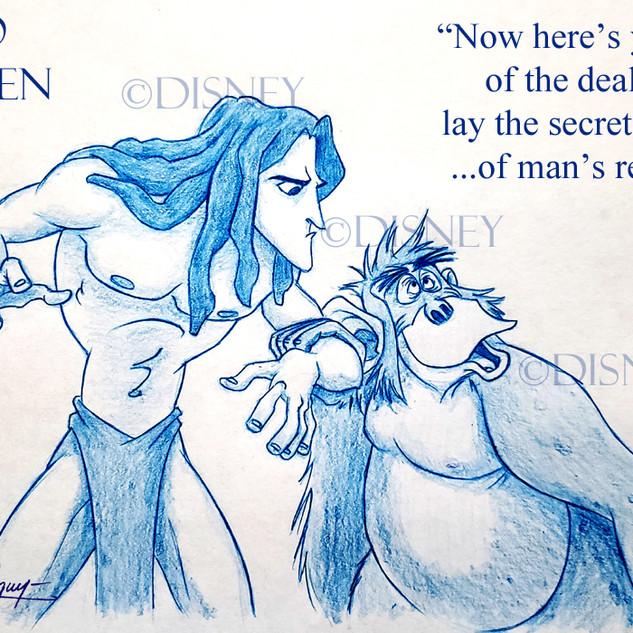Tarzan & Luis Drawing