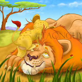 Lion & Son Artwork with Background