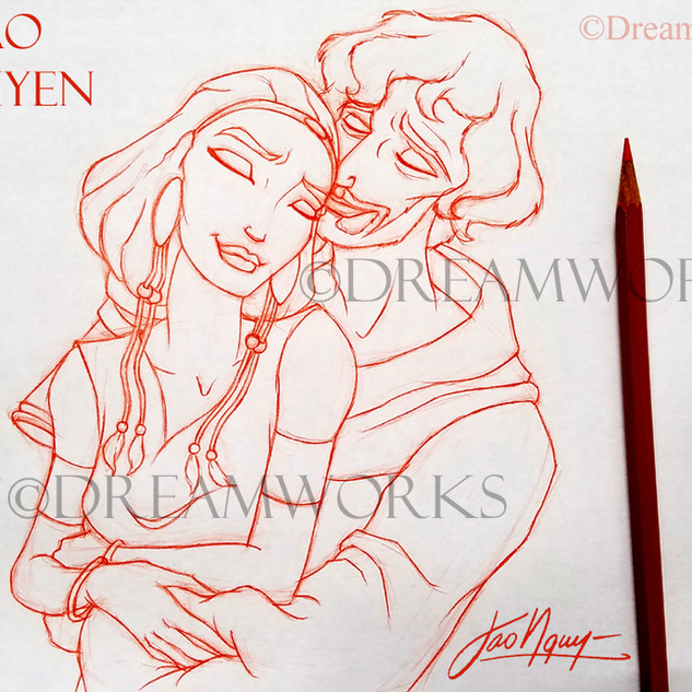 Zipporah and Moses Anniversary drawing