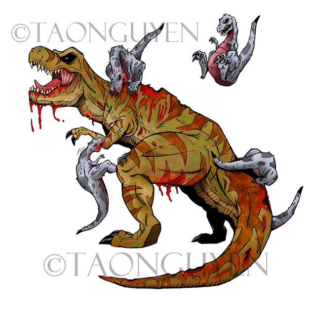 T-Rex with White Background
