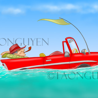 Father's Day Car Boat Artwork