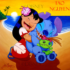 Lilo & Stitch Painting