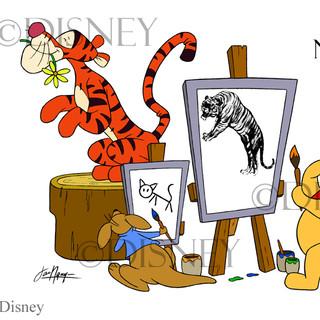 Pooh Paints Fan Art