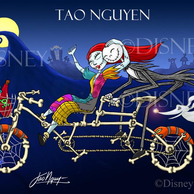 Jack & Sally's Bike Ride Artwork