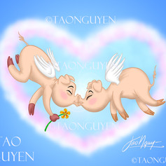 When Pigs Fly & Kiss?! Artwork