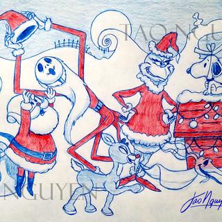 Christmas 2017 Sketch Drawing