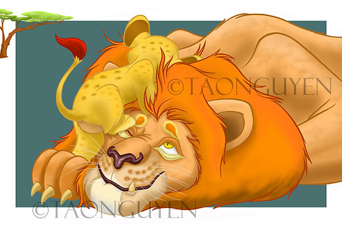Lion and Son (11 x 17 Printed Artwork)