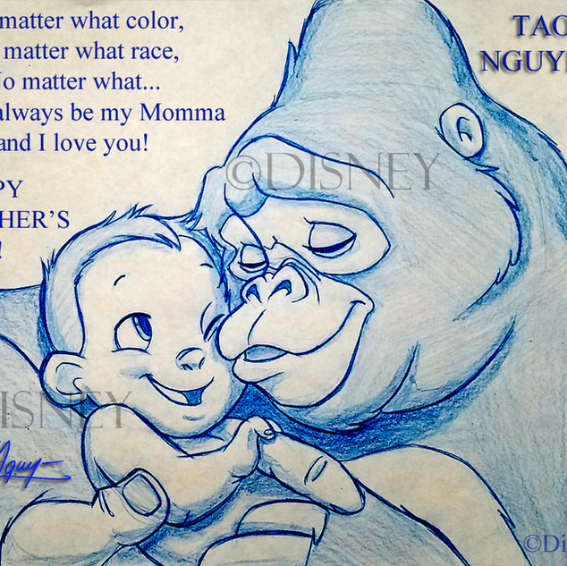 Tarzan Mother's Day Drawing