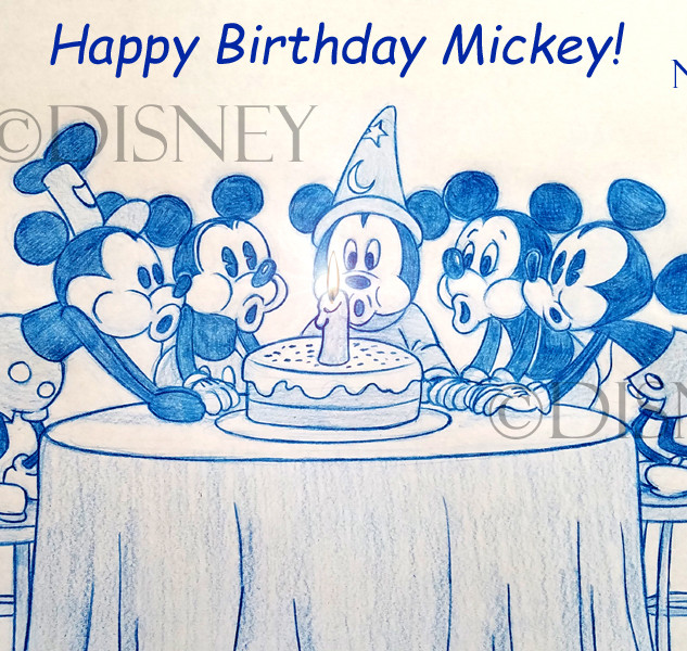 Mickeys Birthday Through Out the Years