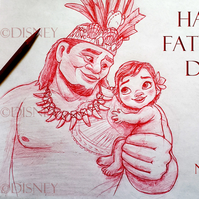 Moana's Father Day Drawing