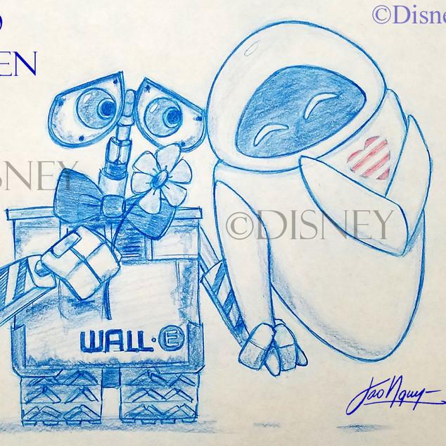 Wall-E & Eva Anniversary Drawing