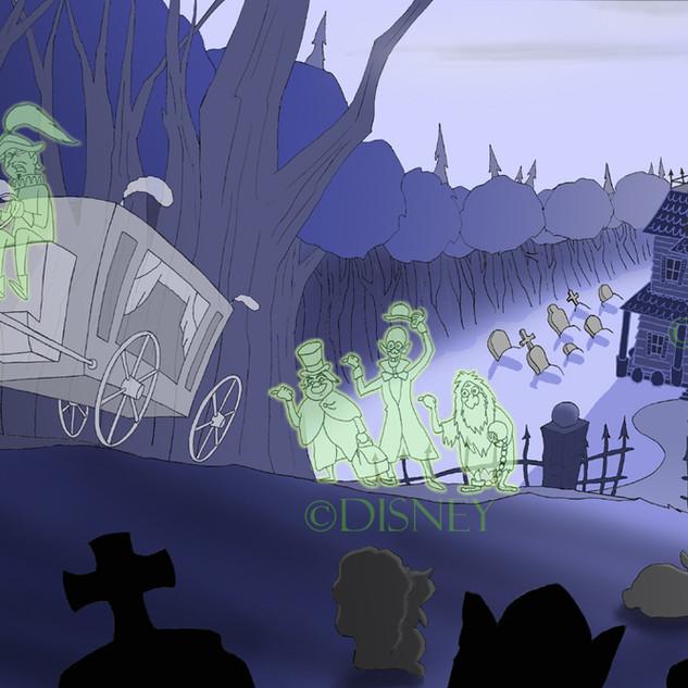 Disney's Haunted Mansion Fan Art