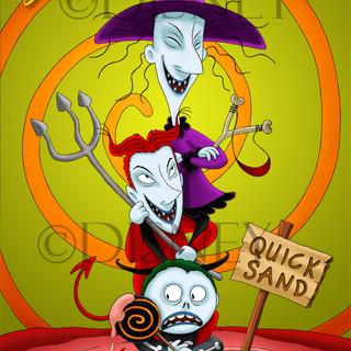 Lock Shock Barrel - Haunted Mansion Artwork