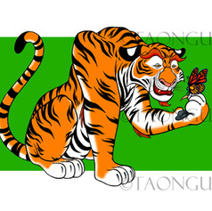 Tiger & Butterfly Artwork