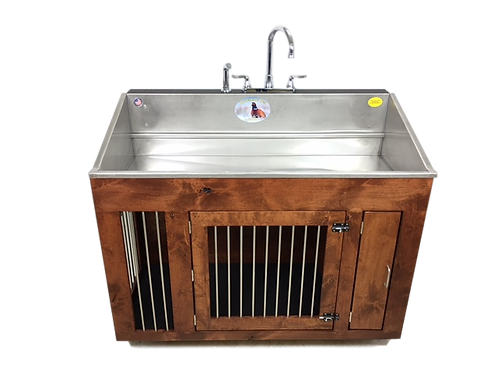 Shallow Sink with Knotty Alder Wood Kennel