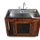 Thumbnail: Shallow Sink with Knotty Alder Wood Kennel