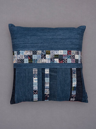 patchwork stripe blue