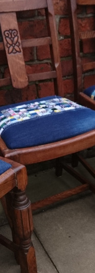completed chairs ready for collection