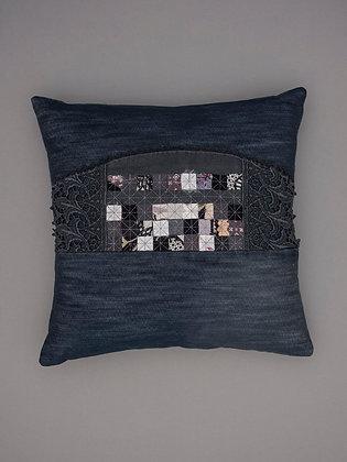 black grey tray cloth applique large square